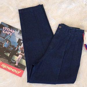 Vintage Liz High Waist Paper Bag Denim Trousers